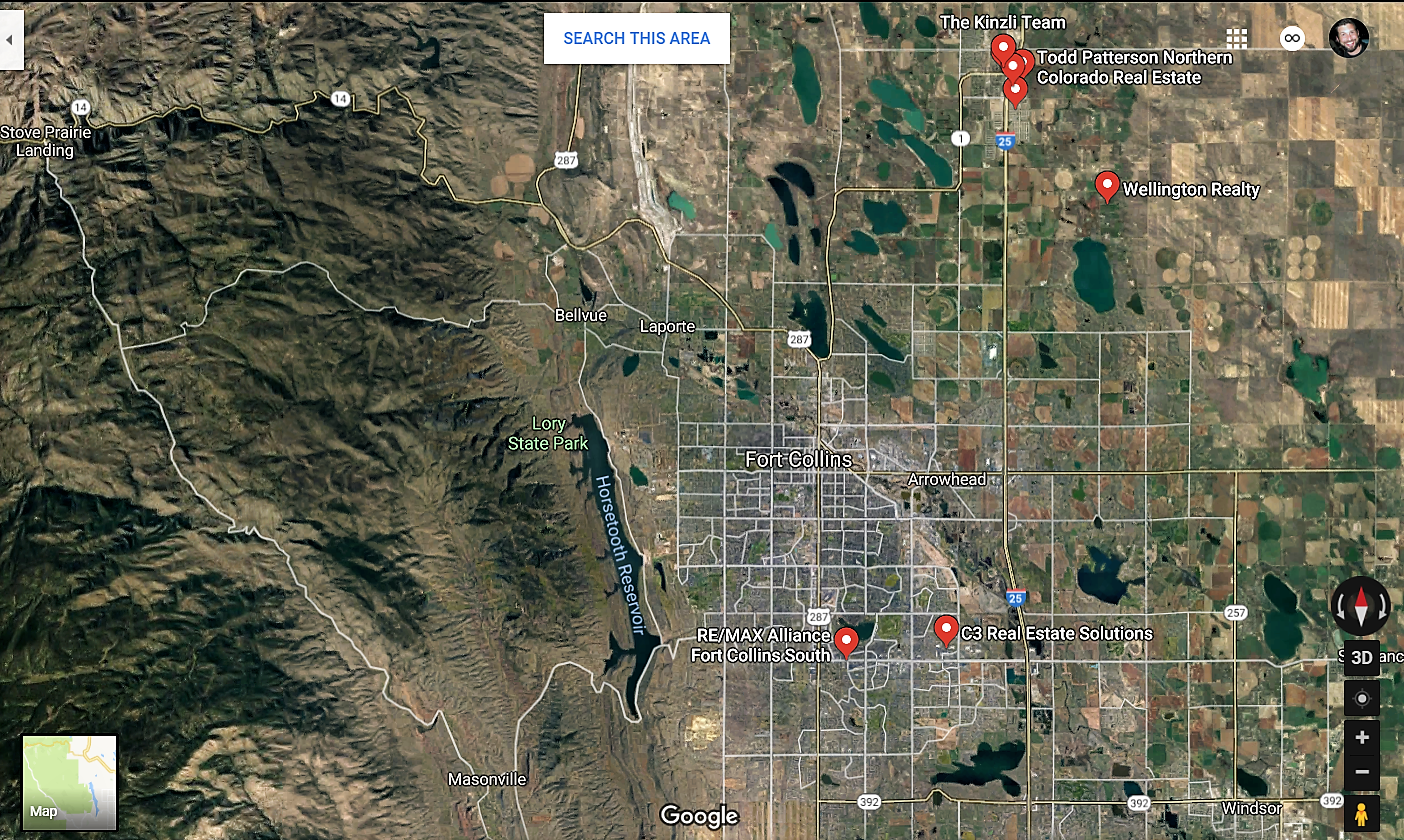 Westminster Colorado Google Maps Real Estate Realtors and Mortgage Loans