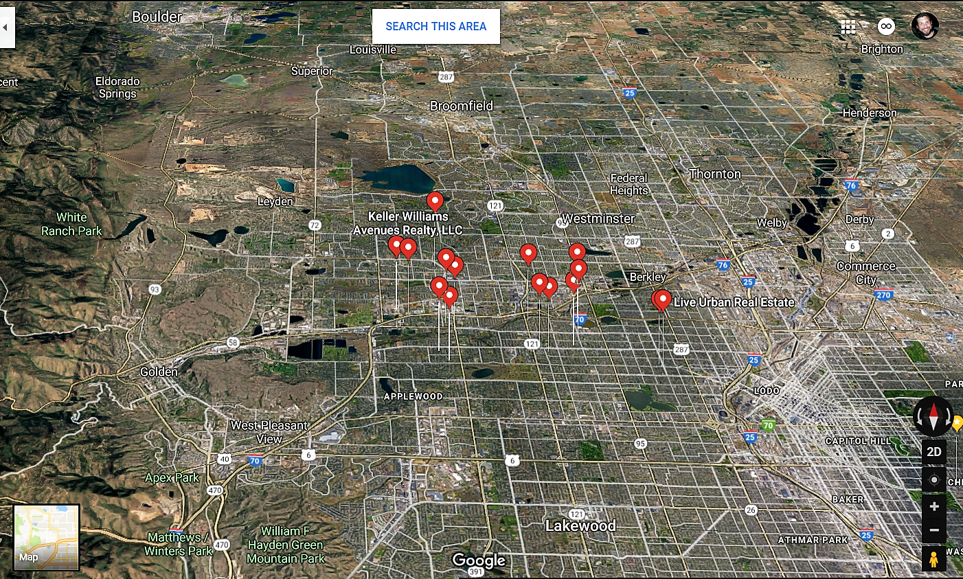 Wheat Ridge Colorado Google Maps Real Estate Realtors and Mortgage Loans
